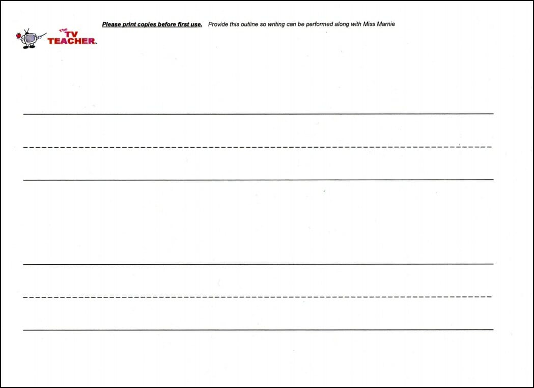 UPPERCASE Writing Template0